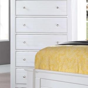 Acme Furniture Mallowsea White Chest with Five Drawers