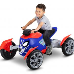Marvel Spiderbike Ride-On Toy by Kid Trax powered rechargeable, preschool, 6 volts, Spiderman