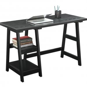 Convenience Concepts Designs2Go Trestle Desk, Multiple Finishes