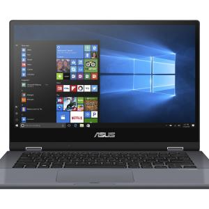 ASUS VivoBook Flip 14″ i3 2-in-1 Touch 4GB/128GB Laptop, Intel Core i3-8145U Processor, 4GB DDR4RAM, 128GB SSD, Fingerprint Reader, Star Grey, Windows 10 in S Mode, TP412FA-OS31T