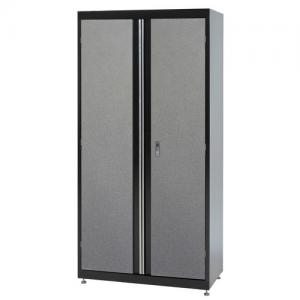 Sandusky 46″W x 24″D x 72″H Jumbo Steel Locking Garage Cabinet, 800 lb capacity, Black & Multi-Granite