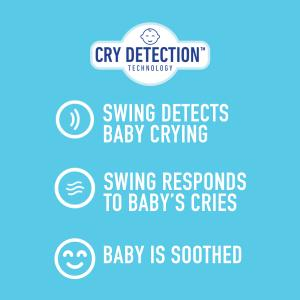 Graco Sense2Soothe Baby Swing with Cry Detection Technology, Birdie
