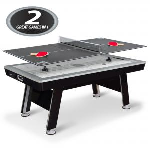 80″ NHL Defender Air Powered Hockey Table With Table Tennis Top