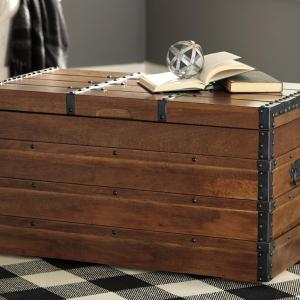 Signature Design by Ashley Kettleby Brown Storage Trunk