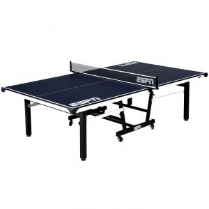 ESPN Official Size 18mm 2 Piece Table Tennis Table with Table Cover, #1 Indoor Model