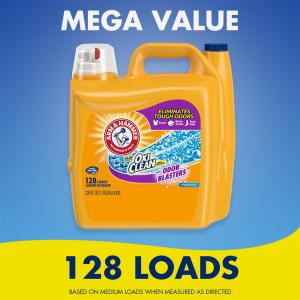 Arm & Hammer Plus OxiClean Odor Blasters Fresh Burst, 128 Loads Liquid Laundry Detergent, 224 Fl oz