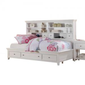 Acme Lacey Twin Daybed with Storage, White