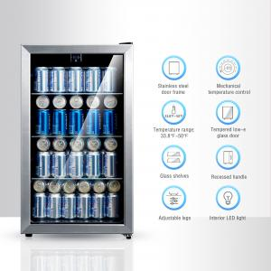 Arctic King 115 Can Beverage Cooler, Stainless Steel Frame
