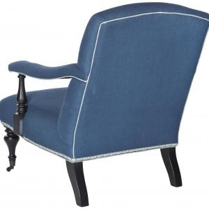 Safavieh Devona Arm Chairs-Finish:Steel Blue/Black