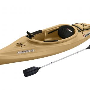 Sun Dolphin Excursion 10′ Sit-in Angler Kayak Sand, Paddle Included