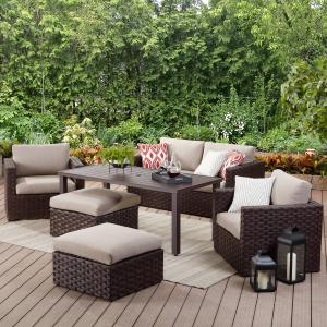 Better Homes & Gardens Harbor City Patio Lounge Chair with Cushions