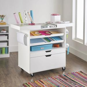 Better Homes & Gardens Craftform Sewing and Craft Cart, White Finish