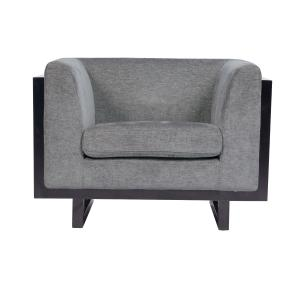 Chic Home Mabel Club Chair Linen-Textured Upholstery