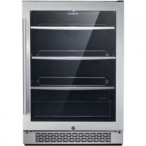Hanover The Vault 24 In. Single Zone Beverage Center with 172-Can Capacity and Door Lock