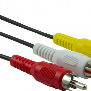onn. Composite A/V Cable, 6 ft., Red / White / Yellow Plugs
