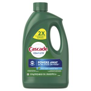 Cascade Complete Gel Dishwasher Detergent, Fresh Scent, 75 oz