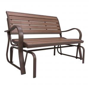 Lifetime Glider Bench, Faux Wood, Brown 60290