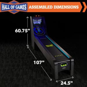 Hall of Games 9′ Arcade Roll and Score Game with LED Lights and Electronic Scorer