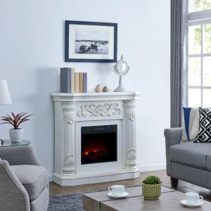 Bold Flame 40 inch Electric Fireplace in White