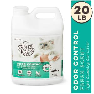 Special Kitty Scoopable Tight Clumping Cat Litter, Fresh Scent, 20 lb