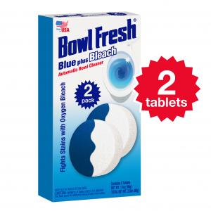 Bowl Fresh Automatic Toilet Bowl Cleaner Toilet Bowl Freshener with Borax & Bleach, 2 Ct