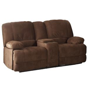 AC Pacific Kevin Brown Reclining Living Room Love Seat with Console ( box #2 of 3 )