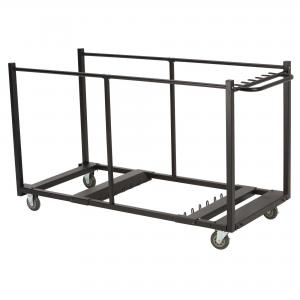 Lifetime Table Cart with Heavy Duty Steel, Black Sand Finish, 80193