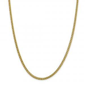 Primal Gold 14 Karat Yellow Gold 4.30mm Semi-solid 3-Wire Wheat Chain