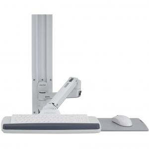 Ergotron LX Wall Mount System – Mounting kit (wall arm, mouse holder, keyboard arm, wrist rest) for LCD display / keyboard / mouse – polished aluminum – white – screen size: up to 32″ – wall-mountable