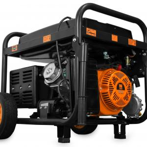WEN 11,000-Watt 120V/240V Dual Fuel Portable Generator with Wheel Kit and Electric Start – CARB Compliant