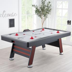 Airzone Air Hockey Table with High End Blower, 84″, Red and Black