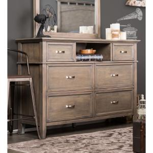 Furniture of America Gelman Country 6-Drawer Dresser, Weathered Oak