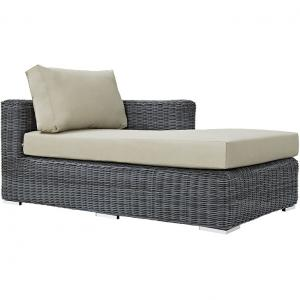 Modway Summon Outdoor Patio Sunbrella Right Arm Chaise, Multiple Colors