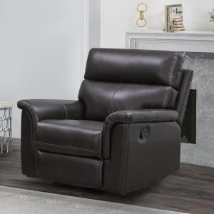 Abbyson Stirling Leather Recliner, Dark Brown