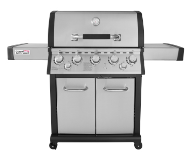 Royal Gourmet MG5001-R 5-Burner Gas Grill with Infrared Rear Burner, Side Burner, Stainless Steel with Cover Included