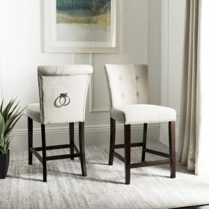 Safavieh Taylor 26 in. H Modern Counter Stool with Ring, Set of 2