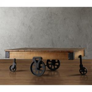 Weston Home Clayton Cocktail Table with Wheels