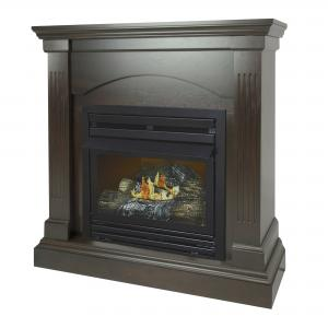 Pleasant Hearth 36 in. Natural Gas Compact Tobacco Vent Free Fireplace System 20,000 BTU
