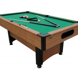 Mizerak Dynasty Space Saver 6.5′ Billiard Table with Leg Levelers, Automatic Ball Return, and Classic Green Nylon Cloth