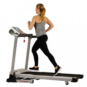 Sunny Health & Fitness Treadmill, High Weight Capacity with Auto Incline, MP3 and Body Fat Function – SF-T7873