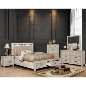 Furniture of America Jexter Rustic 5-Drawer Chest, Antique White