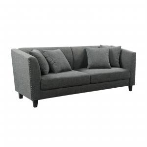 Abbyson Elba Fabric Sofa, Gray