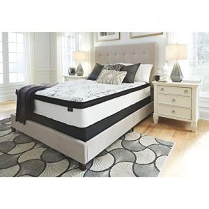 Signature Design by Ashley 12″ Chime, Hybrid Mattress, Queen