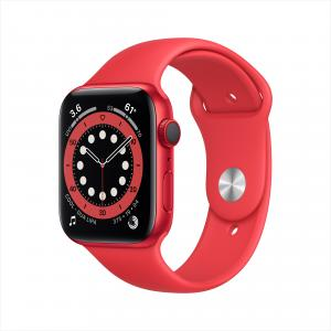 Apple Watch Series 6 GPS + Cellular, 44mm PRODUCT(RED) Aluminum Case with PRODUCT(RED) Sport Band – Regular