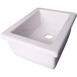Decor Plumbing 14″ Fireclay Utility Sink, White