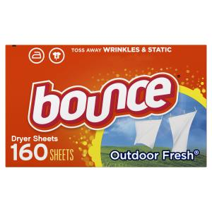 Bounce Dryer Sheets, Outdoor Fresh Scent, 160 Count