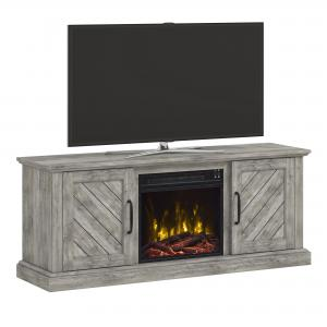 Paoli Valley Pine TV Stand for TVs up to 60″ with Electric Fireplace