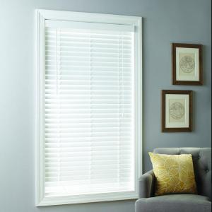 Better Homes & Gardens 2-inch Cordless Faux Wood Blinds, White, Multiple Sizes