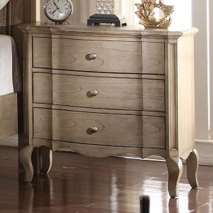 Antique Taupe Nightstand