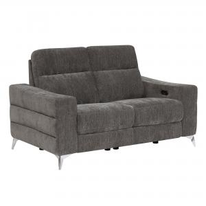 HomeFare Minori Power Recline Loveseat Hush Graphite